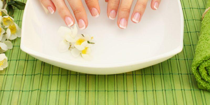 Hands spa – manicure in  beauty salon